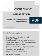 INDONESIA'S CEMENT INDUSTRY 2015 AND BEYOND
