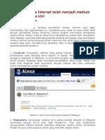 Petanda Internet Sebagai Medium Pemasaran