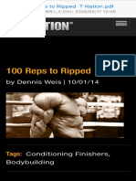 100 reps to ripped