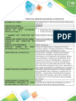 Protocolo de práctica Recuperación y Reutilización de Residuos Sólidos