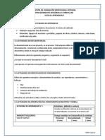 Guia No 6- Elaborar La Documentación Técnica