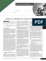 CALCULAR COSTOS IMPORTACION