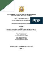 Silabo 2019-II Modelos de Gestion Jose Ventura