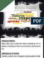 FORMACION CIVICA Y ETICA EN EL DESARROLLO SOCIAL