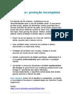 Wilson Rondó Jr - Filtro solar proteção incompleta - vitamina D - prevenção