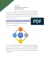 ACTIVIDAD 1.1 LECTURA EL PROCESO ADMINISTRATIVO Y LA ETAPA DE ORGANIZACION
