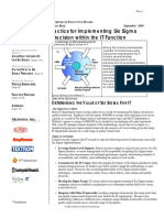 Tactis for Implementing Six Sigma Precision within IT Function (Corporate Executive)
