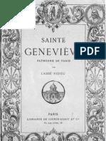 Vidieu Auguste SAINTE GENEVIEVE Patronne de Paris Firmin Didot 1884