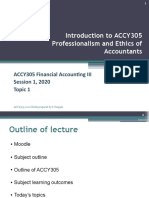 Topic 1 Professionalism and Ethics of Accountants
