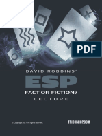 TRICKSHOP.COM David Robbins' ESP - Fact or Fiction Lecture