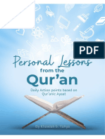 Personal lessons from the Qur'an
