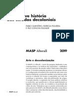 QUINTERO Pablo. Uma Breve História Dos Estudos Decoloniais