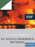 El nuevo desorden mundial - Tzvetan Todorov