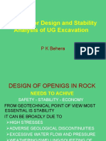 METHODS FOR DESIGN & SABILITY UG EXCAVATION.ppt