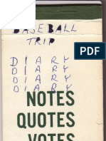 East Trail Little League Diary 1967 by Wesley Kenzie