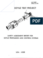 Safety Assessment Report for Soyuz Propulsion and Control Sy