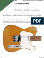 A.J.'s 1950 Fender Broadcaster - Vintage Guitar® magazine