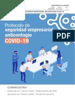 PROTOCOLO DE SEGURIDAD ANTICONTAGIO COVID-19  VG-11-05-2020