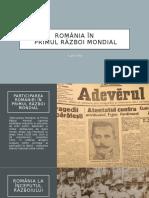 Primul Război Mondial în România