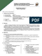 ENSC 11 Course Outline 2nd sem 2015-16