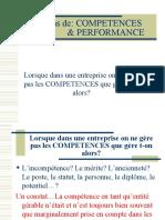 compétences et performance