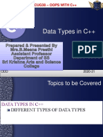 PPT5 - DATA TYPES IN C++