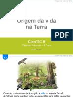 CienTic8- B2 Origem da vida
