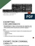 Exempting circumstance