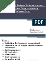 Le Modèle Heckscher-ohlin-samuelson de La Théorie de Commerce