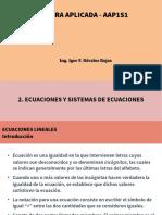 Algebra_Aplicada-T02L01-Ecuaciones_Lineales