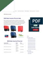 SMA inverter string inverter cost