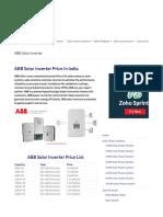 ABB inverter cost