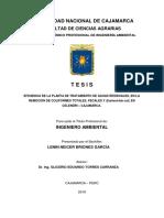 EFICIENCIA DE LA PLANTA DE TRATAMIENTO DE AGUAS RESIDUALES, EN LA remocion de coliformes totales