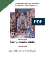 18 de Mayo. San Venancio Mártir. Propio y Ordinario de la santa misa