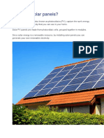 What are solar panels