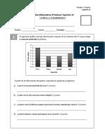 prueba 4º básico CAP 10 Gráficos y probabilidades