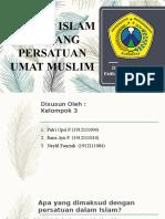 PAI Konsep Islam tentang Persatuan Umat Muslim
