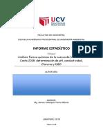 Análisis físicos-químicos de la cuenca del río Chillón- Canta 2018