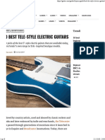 10 best Tele-style electric guitars