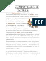 DEFINICIÓN DEADMINISTRACIÓN DE EMPRESAS
