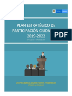 PLAN ESTRAT ÉGICO DE PARTICIPACIÓN CIUDAD ANA 2019 2022