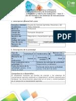 Guía de actividades y rúbrica de evaluación - Fase 3 - Conocer las fuentes de energía y sistemas de mecanización agrícola