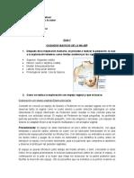 CUIDADOS BASICOS DE LA MUJER cuestionario sin respuestas