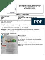 plan de trabajo Ciencias Naturales 2