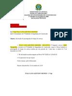 Requerimento Prorrogação - Sgt Italo