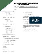 5° TAREA - ÁLGEBRA - MATRICES Y DETERMINANTES.pdf