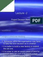 Lecture 2 - Risk Management