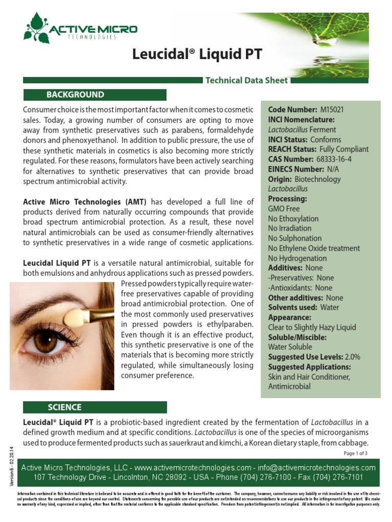 M20 Leucidal Liquid PT Technical Data Sheet v20   PDF ...