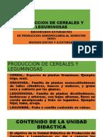 PRODUCCION DE CEREALES Y LEGUMINOSAS