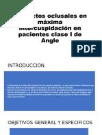 Contactos oclusales en máxima intercuspidación en pacientes clase I de Angle